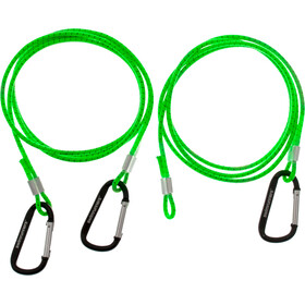 Swimrunners Hook-Cord Ceinture de traction 3m, neon green
